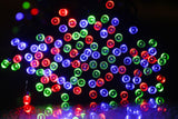 300 LED Solar String Fairy Lights - Red Green Blue