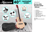 Karrera Acoustic Cutaway 40in Guitar - Natural