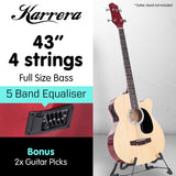 Karrera 43in Acoustic Bass Guitar - Natural