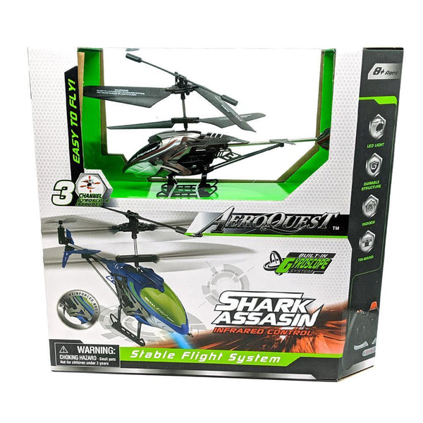 AeroQuest Infrared Control Shark Assassin Helicopter with Gyroscope
