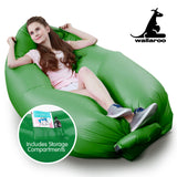 Wallaroo Inflatable Air Bed Lounge Sofa - Dark Green