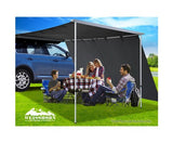 Car Shade Awning Extension 3 x 2M - Charcoal Black