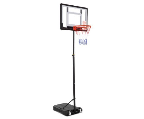 Adjustable Portable Basketball Stand Hoop System Rim - 2.1M