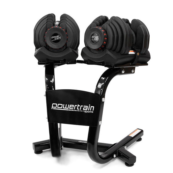 Adjustable Dumbbell Set with Stand - 80kg