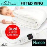 Stella Fleece 9 Level Heated Settings Electric Blanket - King