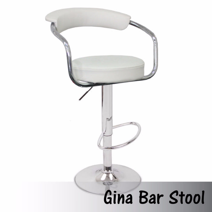 GINA BAR STOOL WHITE
