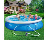 Bestway Inflatable Swimming Pool Set Blue