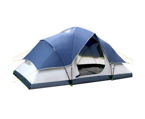 6 Person Family Camping Tent Navy Grey