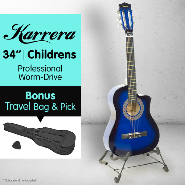 Karrera Childrens Acoustic Guitar - Blue