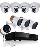 Security Kit, 8CH 5 in 1 DVR, 8 x Cameras, Home CCTV IR Surveillance System