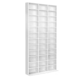 Adjustable CD DVD Book Storage Shelf White