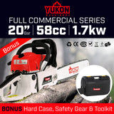 Yukon 58cc Chainsaw with case