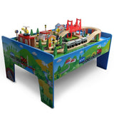 Track Railway Table Wooden Train Set