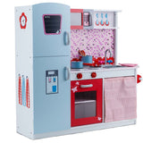 Multi Coloured Wooden Playset Toy Kitchen