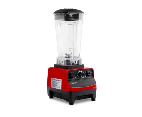 Devanti Commercial Food Processor Blender - Red