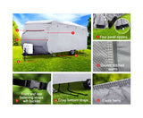 4 Layers 4 Side Open Caravan Campervan Cover Straps 20-22FT