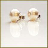 Swarovski 10 mm Pearl, 925 Silver Stud Earrings