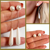 Swarovski Pearl & Shell Pearl 2-way Earrings