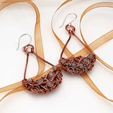 Teardrop Tangled - Copper Earrings