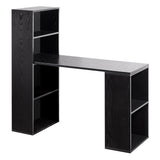 6 Storage Shelf Office Computer Desk Black