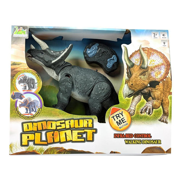 Dinosaur Planet Infrared RC Walking & Roaring Triceratops