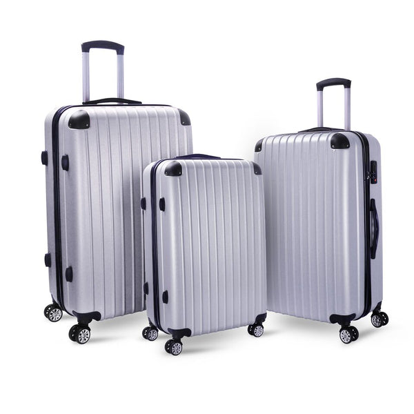 Milano Slim Line Luggage  - Silver 3PCS/Set