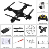 Wi-Fi Drone Quadcopter, HD Camera, RC, FPV Live Altitude Hold, 6 Axis Gyro, Viewable via iPhone/IOS/Android Black