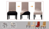4pcs Stretch Elastic Dining Room Washable Chair Cover Grey
