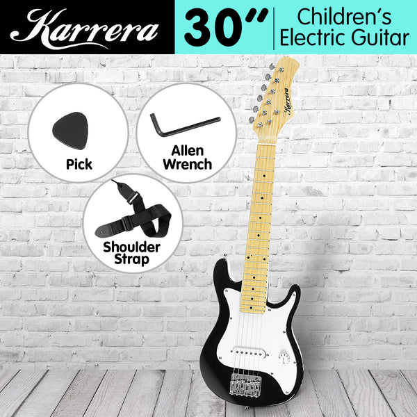 Karrera Electric Children's Guitar - Black