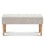 Seat Footstool Bench Stool - Beige