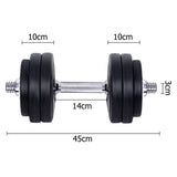 Home Gym Fitness 30kg Dumbbell Set