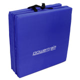 Powertrain Yoga Exercise Tri-fold Mat 180x60x5cm - Blue