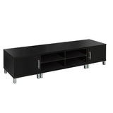 TV Stand Entertainment Unit Lowline Cabinet Drawer Black