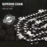 "22"" Baumr-AG Chainsaw Chain 22in Bar Replacement Commercial Saws 3/8 .058 76DL"