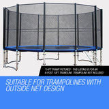 16ft Replacement Trampoline Net- Outside Net Design