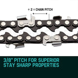 "2 X 24"" Baumr-AG Chainsaw Chain 24in Bar Replacement Suits 72CC 76CC 82CC Saws"