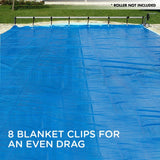 Silver/Blue 11x6.2m Swimming Pool Solar Cover