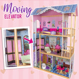 Wooden-Doll-House-Girls-Pretend-Play-Furniture-3-Level-Large-Toy-Dollhouse-Pink-MYT-KIDDLHROVASTD-afterpay-zip-laybuy