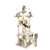 2.1M Cat Scratching Post Tree Gym House Condo Furniture Scratcher Tower
