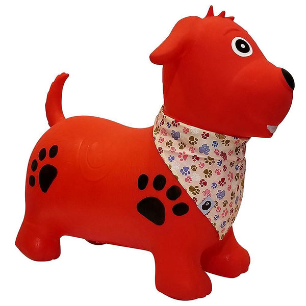 Kidi Hoppers Red Dog with Scarf Hopper Ball