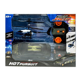 Kool Speed Hot Pursuit RC Car and RC Helicopter Set