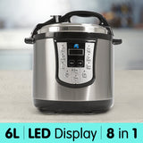 8 in 1 Multi-function Electric Pressure Cooker - 6L