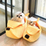Banana Shaped Cat or Dog Bed