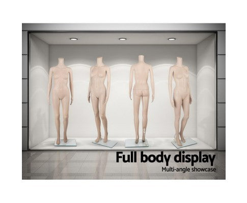 Headless Full Body Female Mannequin Cloth Display Tailor Dressmaker Skin Tone - 175cm