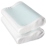 Set of 2 Cool Gel Top Memory Foam Pillow