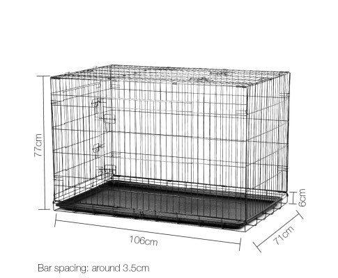 42 Inch Metal Collapsible Dog Cage