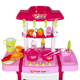 Kids Play Set Little Chef Kitchen 25 Piece - Pink