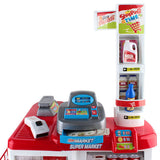 Supermarket Pretend Play Set Red White