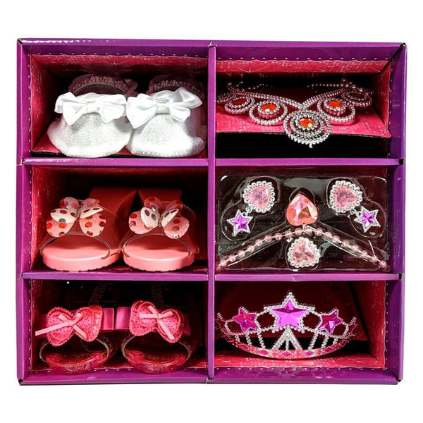 Princess Girls Dress Up High Heeled Shoe Set with Jewelry - 3 Pack