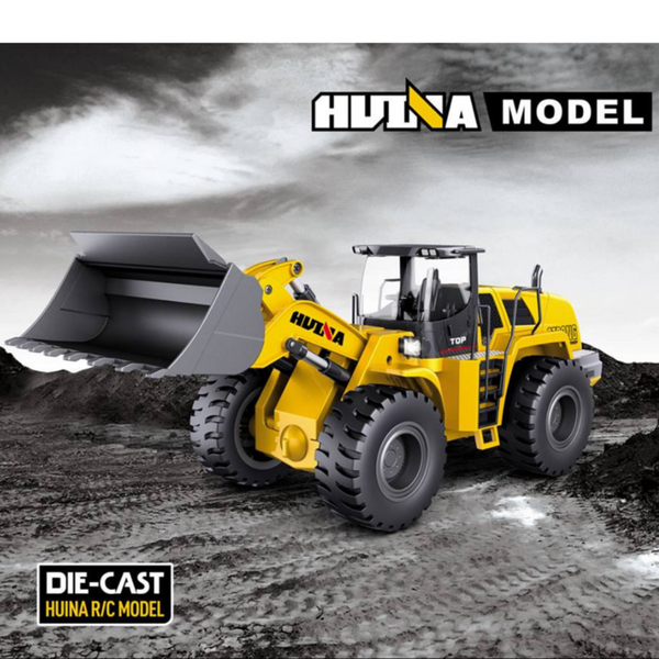 HuINa RC Wheeled Loader Fully Functional Remote Controlled Dirt/Sand Toy